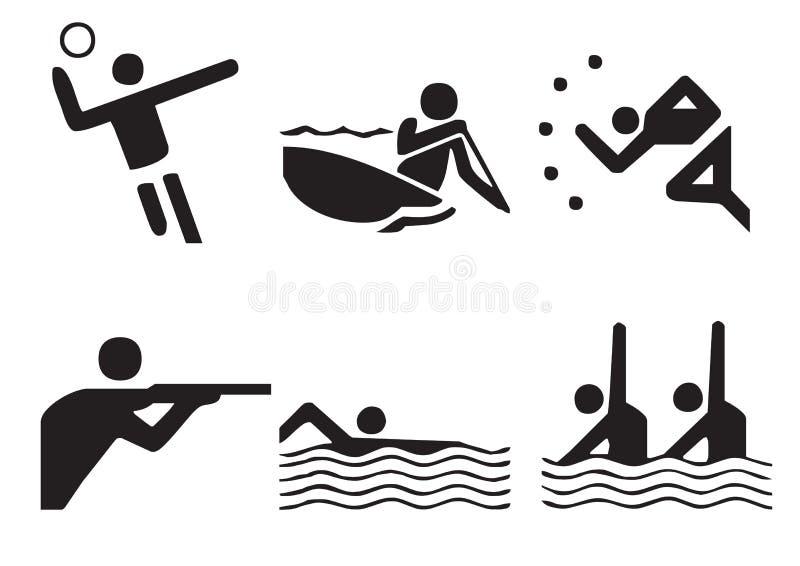 1 διάνυσμα αθλητικών συμβόλων ελεύθερη απεικόνιση δικαιώματος