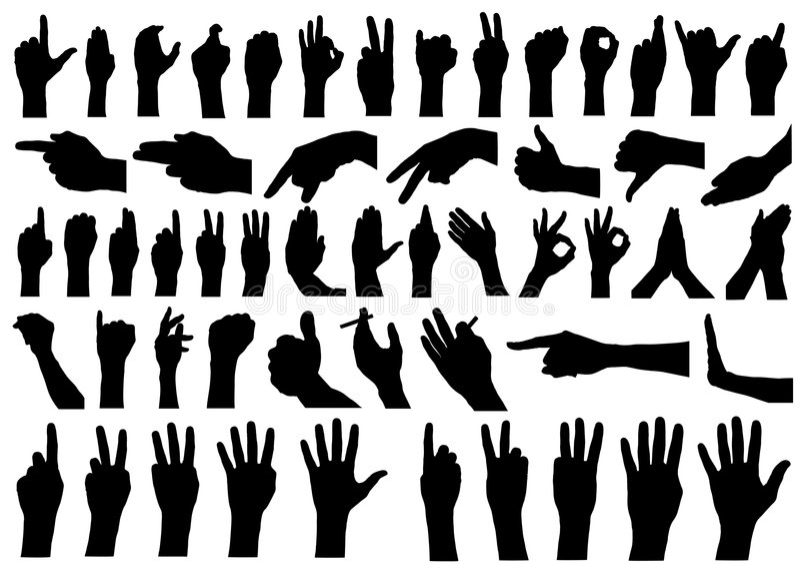 1 διάνυσμα χεριών συλλογή&s διανυσματική απεικόνιση