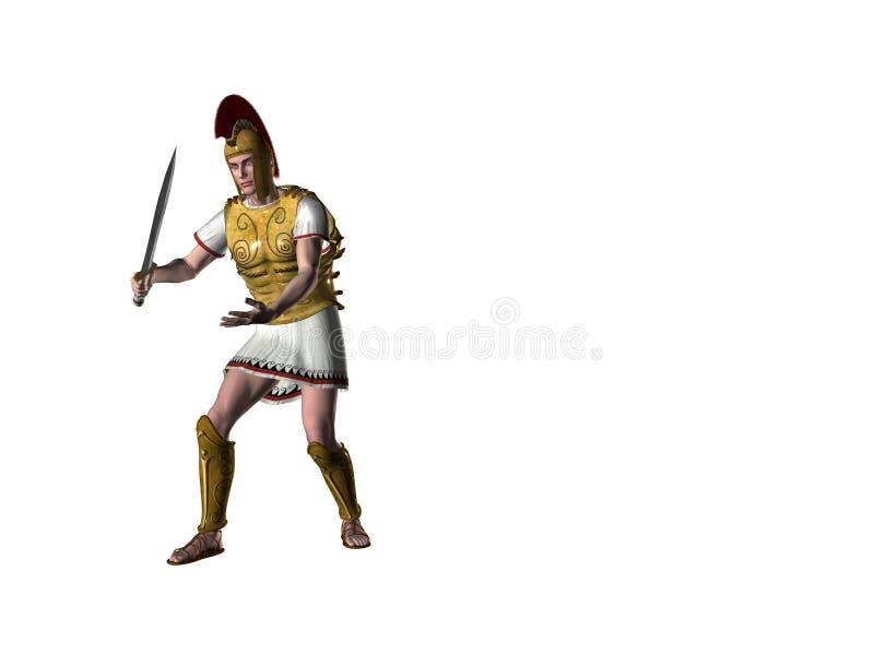 1 ελληνικός πολεμιστής διανυσματική απεικόνιση