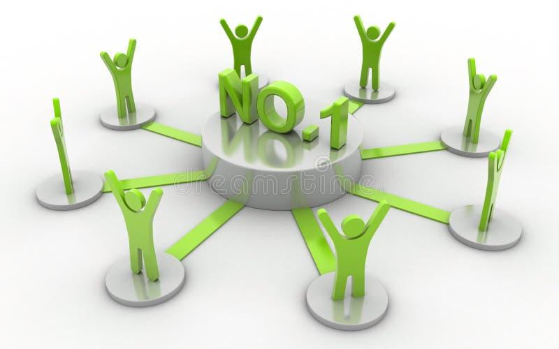 1 επιχειρησιακό δίκτυο αριθ. διανυσματική απεικόνιση