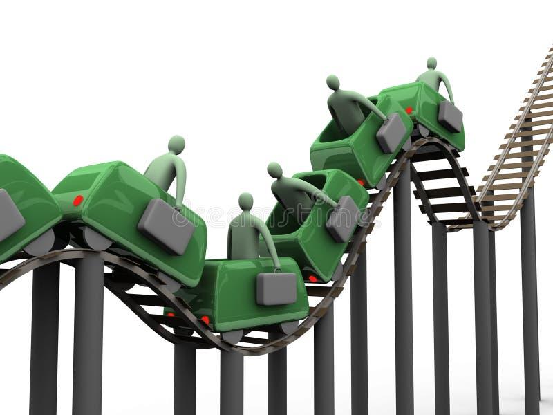 1 επιχειρησιακό rollercoaster διανυσματική απεικόνιση