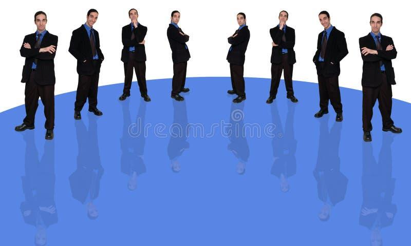 1 ερώτηση επιχειρηματιών διανυσματική απεικόνιση