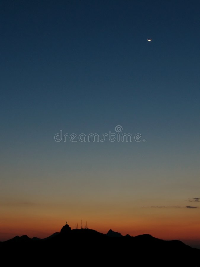 1 ηλιοβασίλεμα de janeiro Ρίο στοκ εικόνες με δικαίωμα ελεύθερης χρήσης