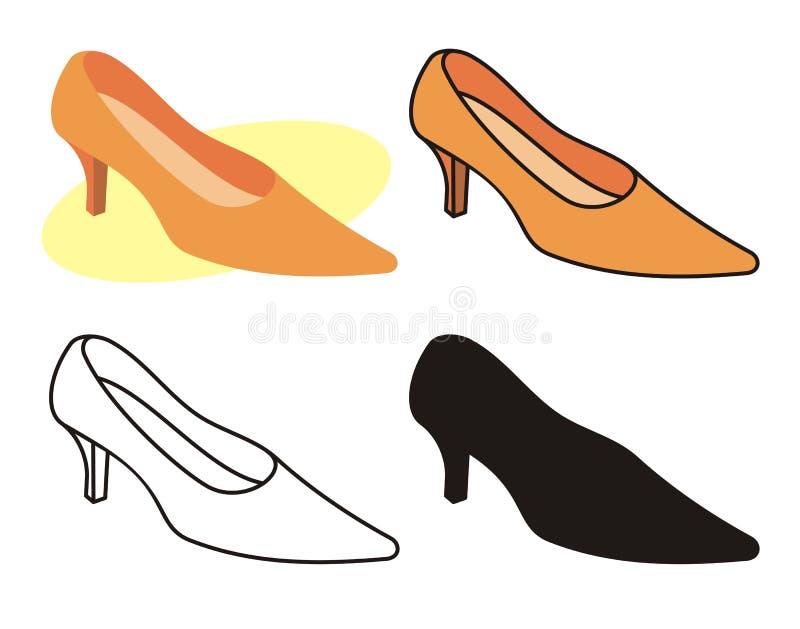 1 θηλυκό παπούτσι διανυσματική απεικόνιση