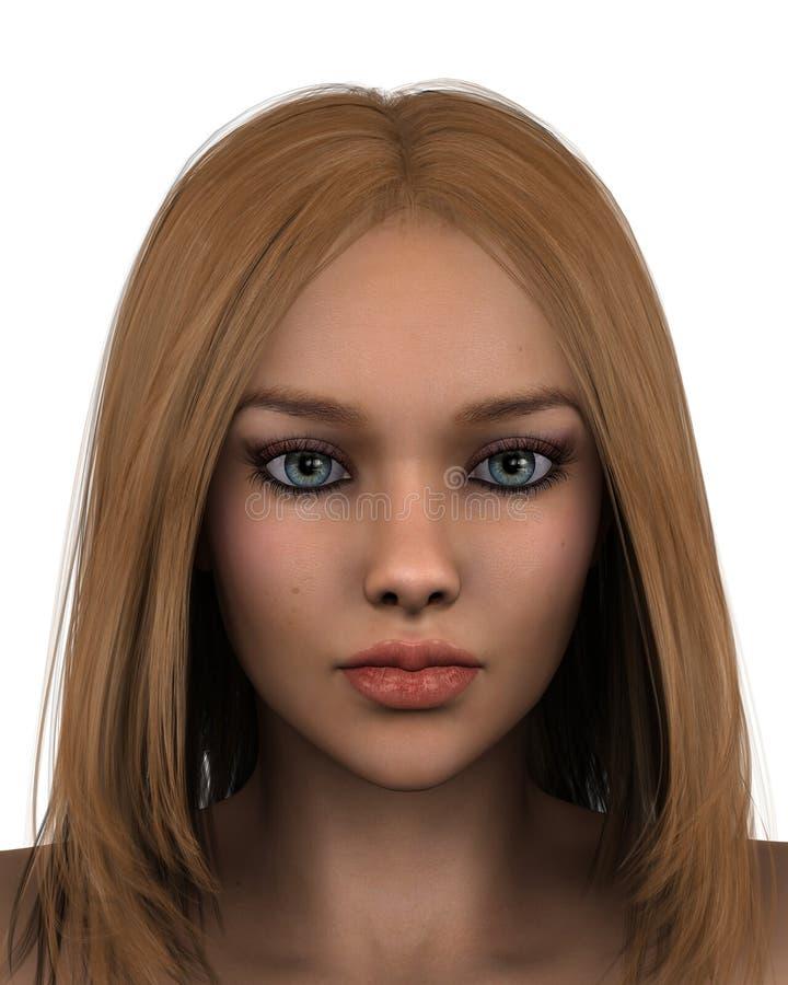 1 θηλυκό πορτρέτο απεικόνιση αποθεμάτων
