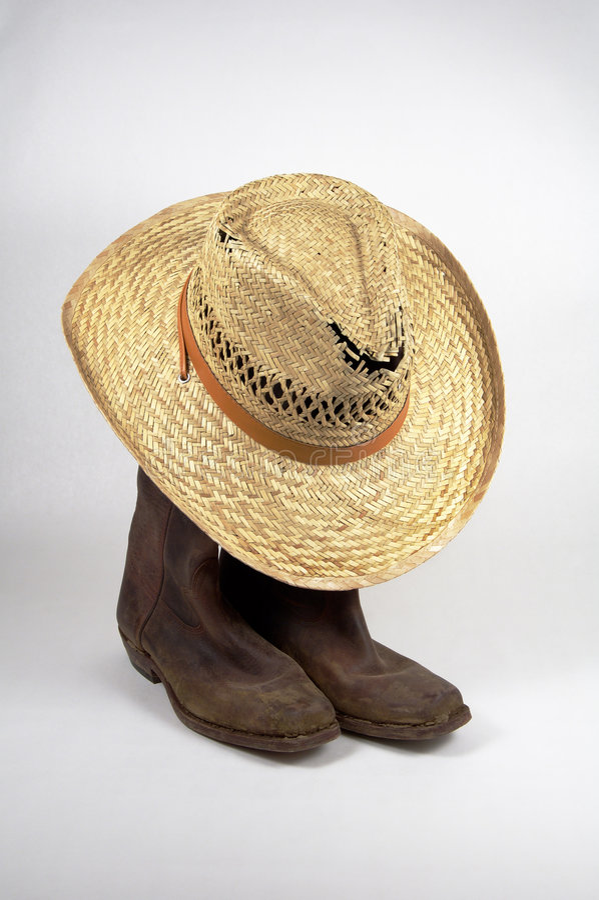 Download 1 καπέλο μποτών στοκ εικόνα. εικόνα από βρώμικος, άσπρος - 383643