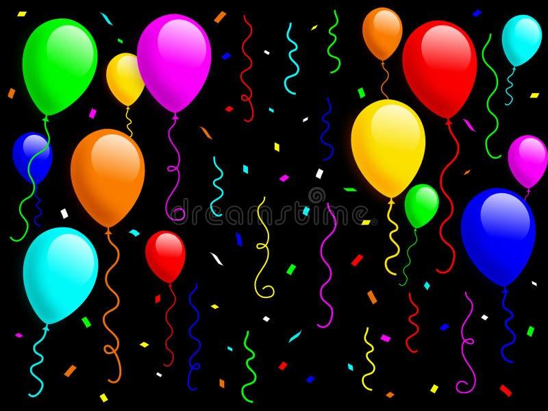 1 κομφετί μπαλονιών διανυσματική απεικόνιση