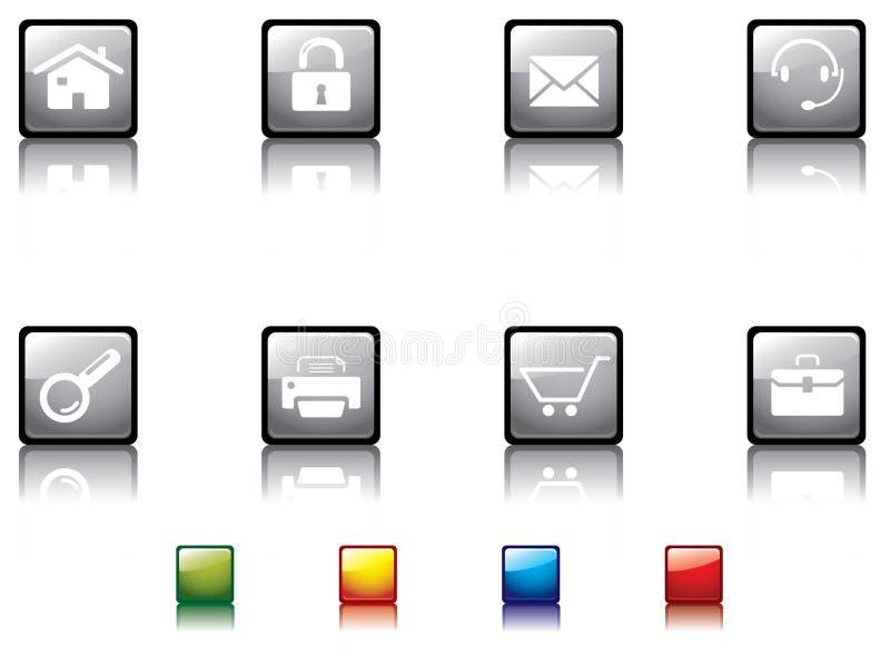 1 κουμπί στιλπνό καμία σειρά απεικόνιση αποθεμάτων