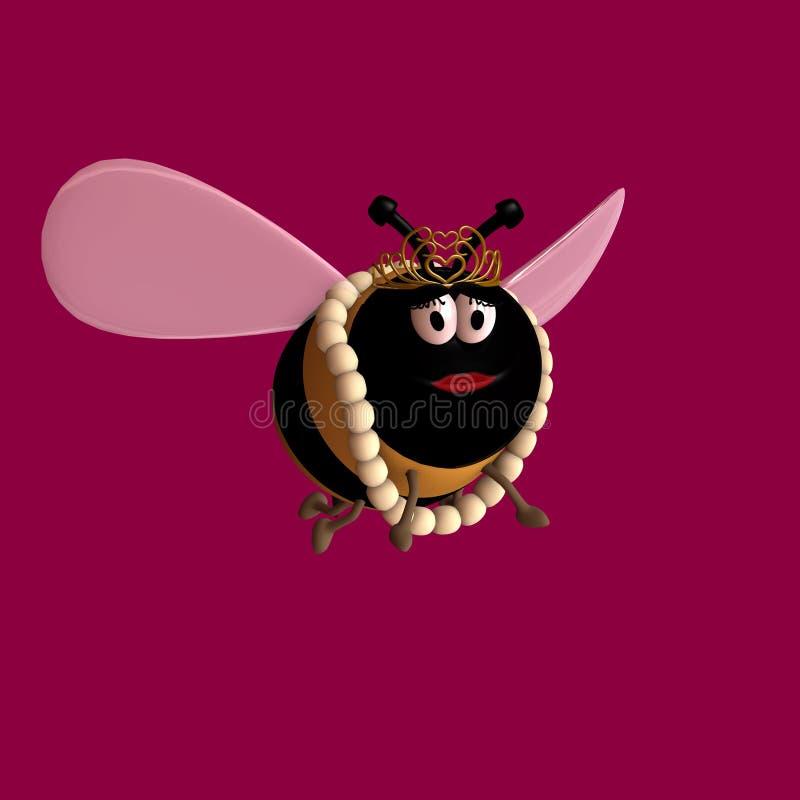 1 μέλισσα βασίλισσα Toon ελεύθερη απεικόνιση δικαιώματος