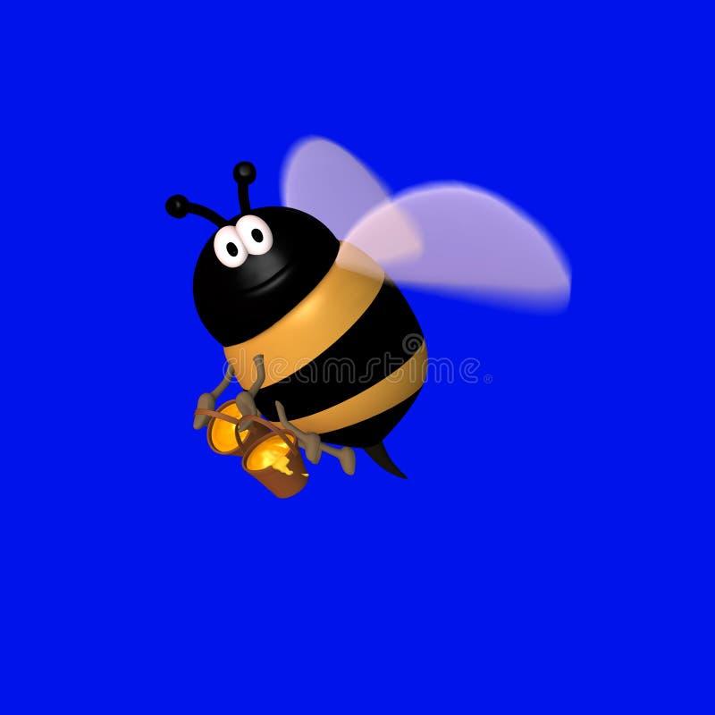 1 μέλι Toon μελισσών διανυσματική απεικόνιση