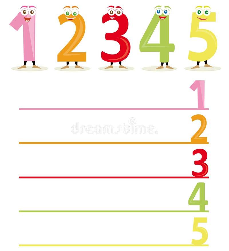 1 μέρος αριθμών ονόματος ελεύθερη απεικόνιση δικαιώματος
