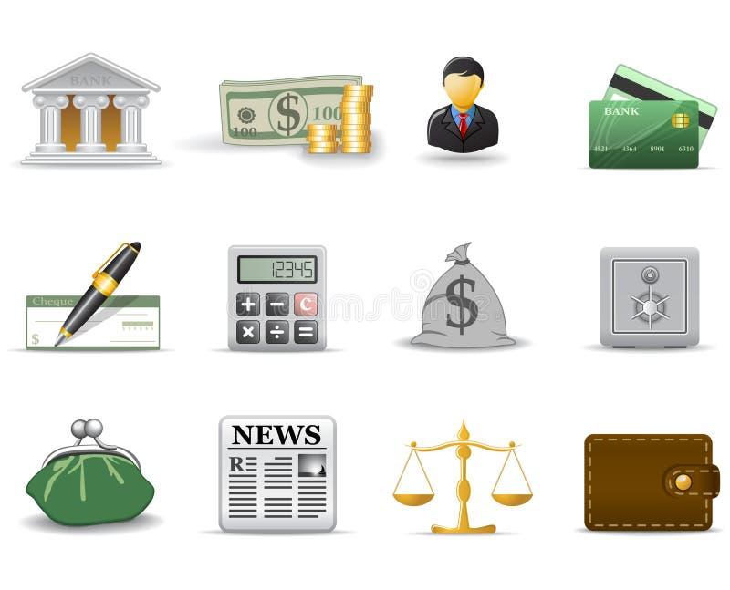 1 μέρος εικονιδίων χρηματ&omicron διανυσματική απεικόνιση