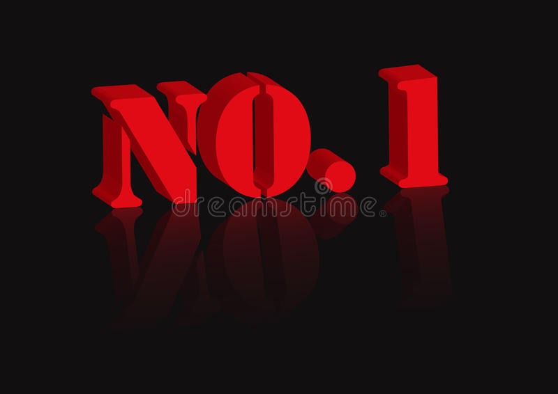 1 Μαύρος κανένα κόκκινο ελεύθερη απεικόνιση δικαιώματος