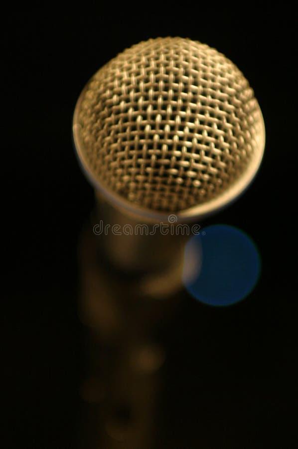 1 μικρόφωνο στοκ φωτογραφία