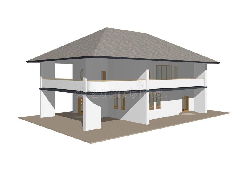 1 μοντέλο εξοχικών σπιτιών απεικόνιση αποθεμάτων