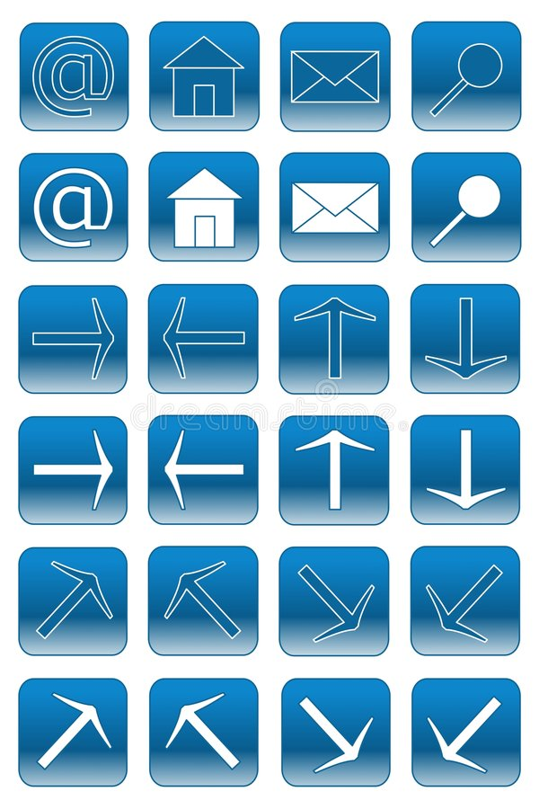 1 μπλε ελαφρύς Ιστός κουμ& απεικόνιση αποθεμάτων