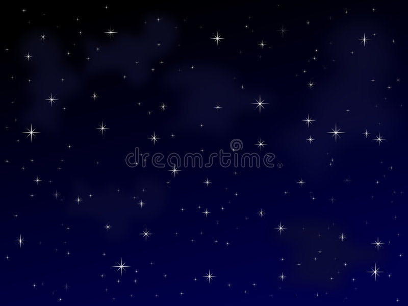 1 νύχτα έναστρη διανυσματική απεικόνιση