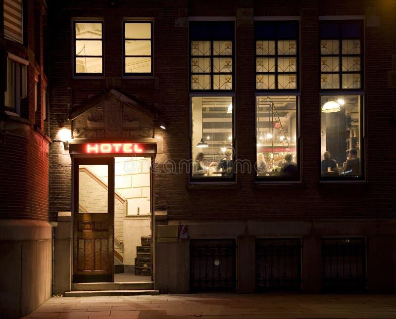 1 ξενοδοχείο εισόδων στοκ φωτογραφία