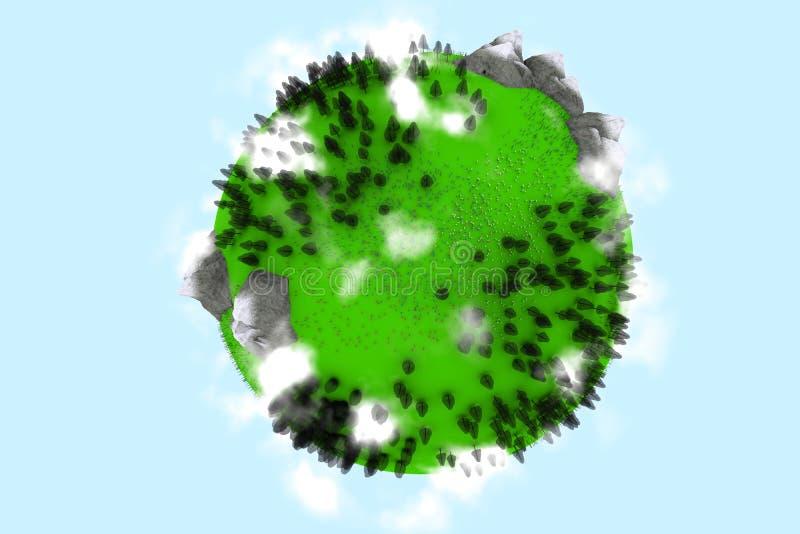 1 ουρανός eart διανυσματική απεικόνιση