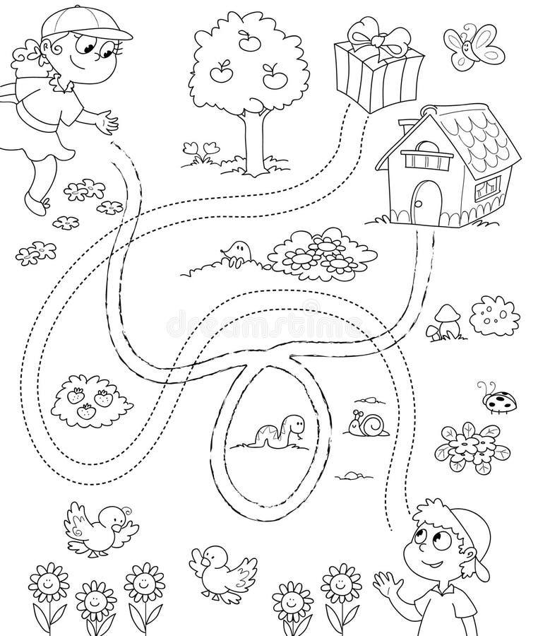 1 παιχνίδι παιδιών bw ελεύθερη απεικόνιση δικαιώματος
