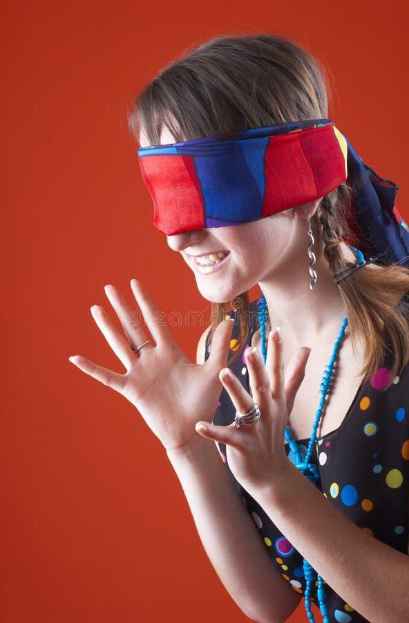 1 παιχνίδι blindfold στοκ εικόνες με δικαίωμα ελεύθερης χρήσης