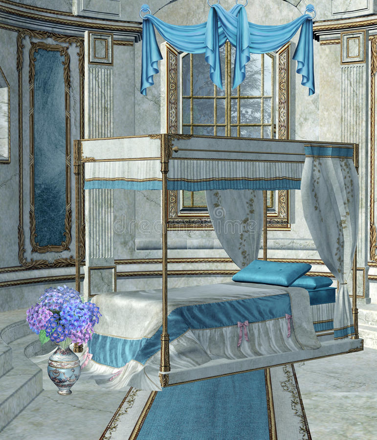 1 παλάτι κρεβατοκάμαρων απεικόνιση αποθεμάτων