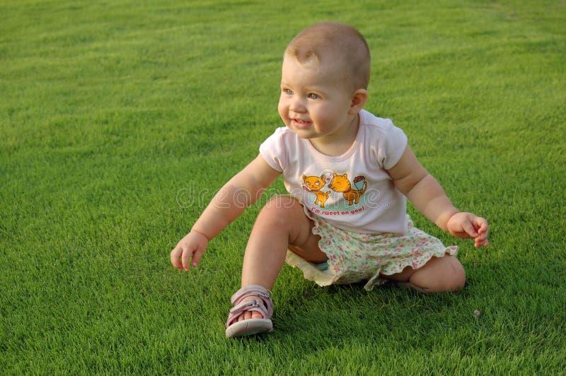 1 παλαιό έτος χλόης μωρών στοκ φωτογραφία με δικαίωμα ελεύθερης χρήσης