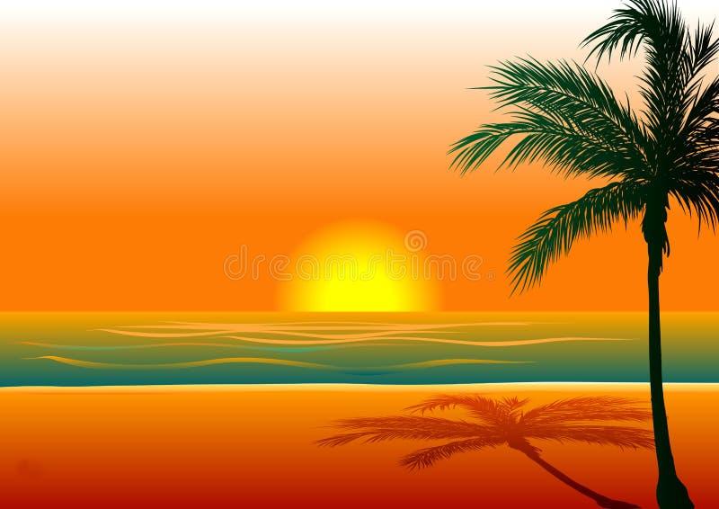 1 παραλία ανασκόπησης διανυσματική απεικόνιση