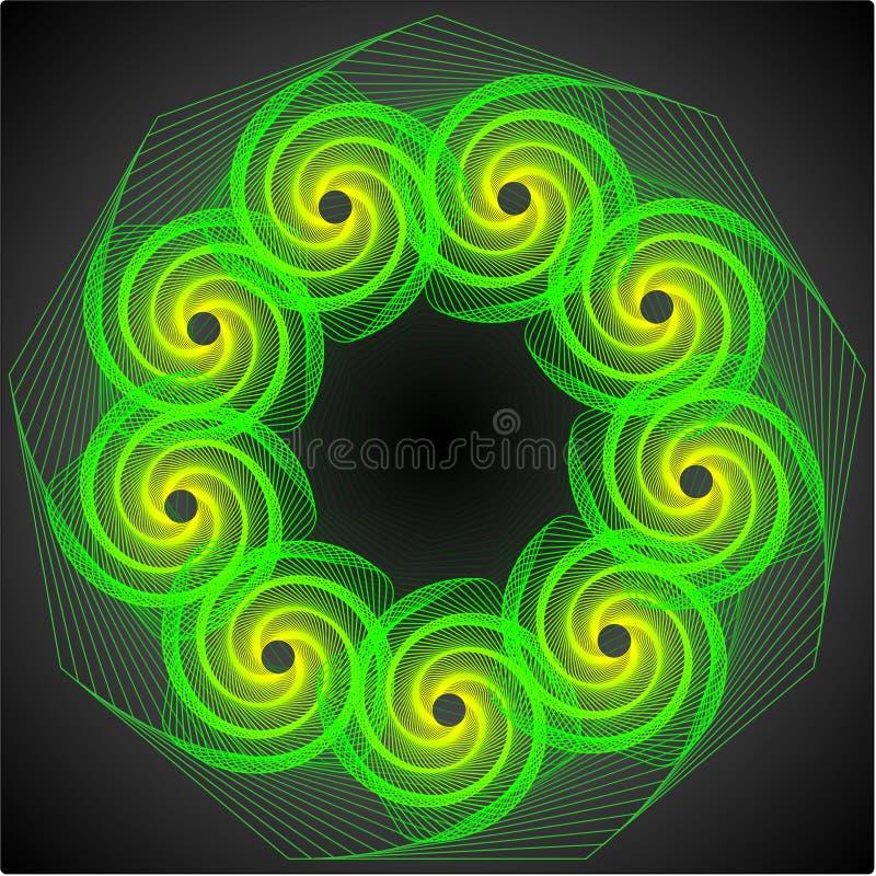Download 1 πράσινη δίνη διανυσματική απεικόνιση. εικονογραφία από κομφετί - 22791556