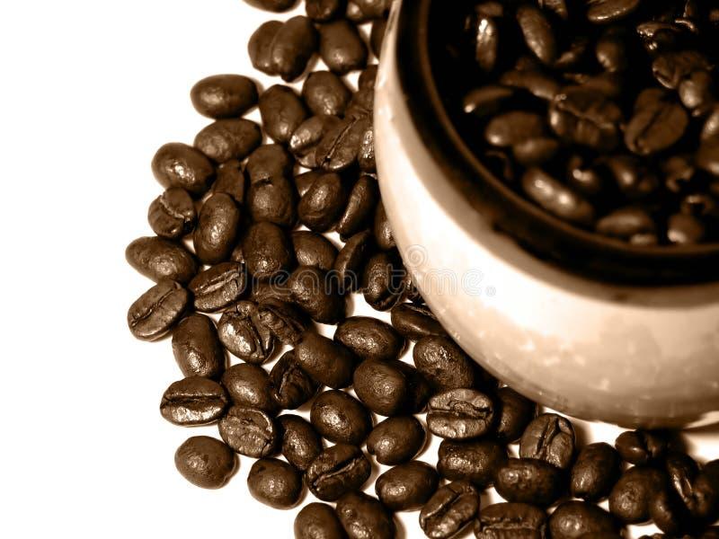 1 σειρά καφέ στοκ εικόνες