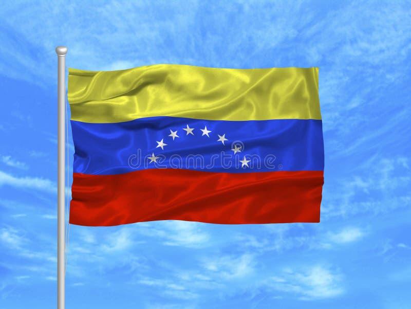 1 σημαία Βενεζουέλα διανυσματική απεικόνιση