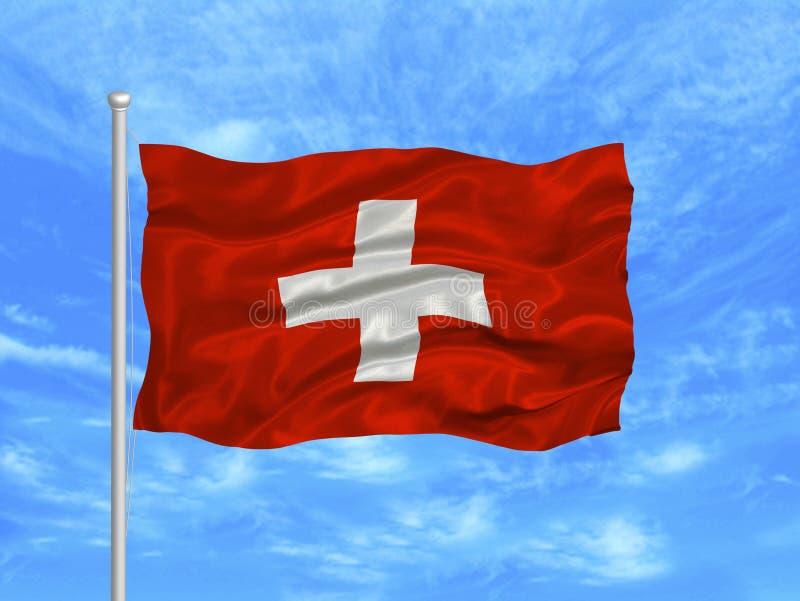 1 σημαία Ελβετός διανυσματική απεικόνιση