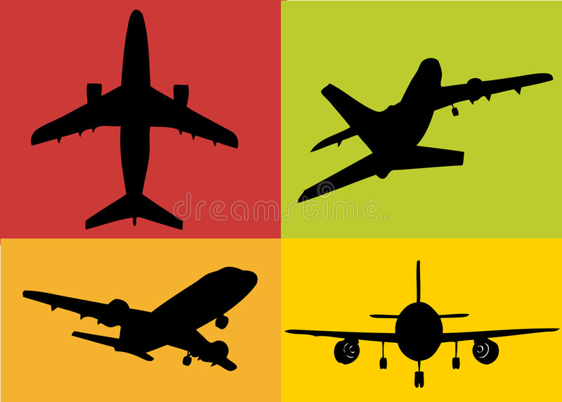 1 σύνολο αεροπλάνων διανυσματική απεικόνιση