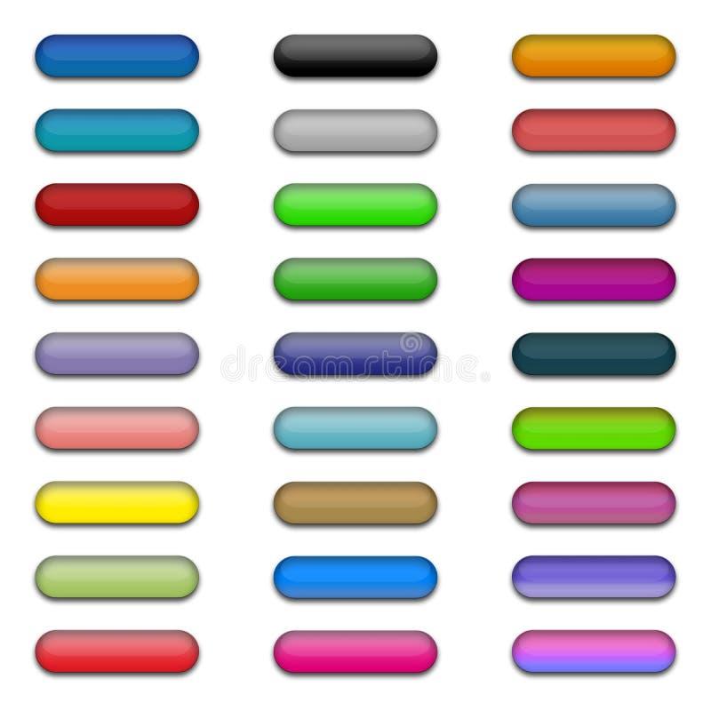 1 σύνολο κουμπιών διανυσματική απεικόνιση
