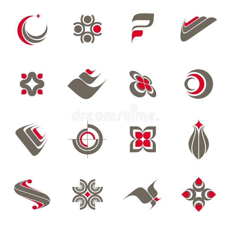 1 σύνολο λογότυπων συλλ&o ελεύθερη απεικόνιση δικαιώματος