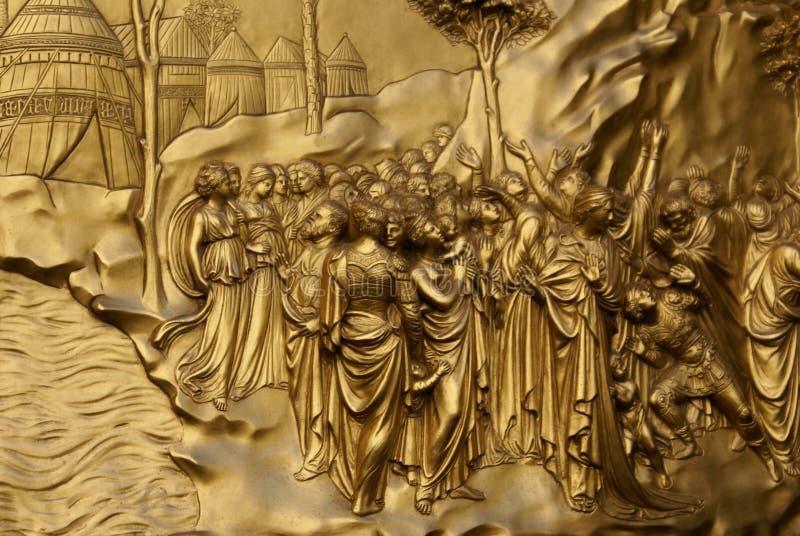 1 χρυσός πορτών στοκ εικόνες
