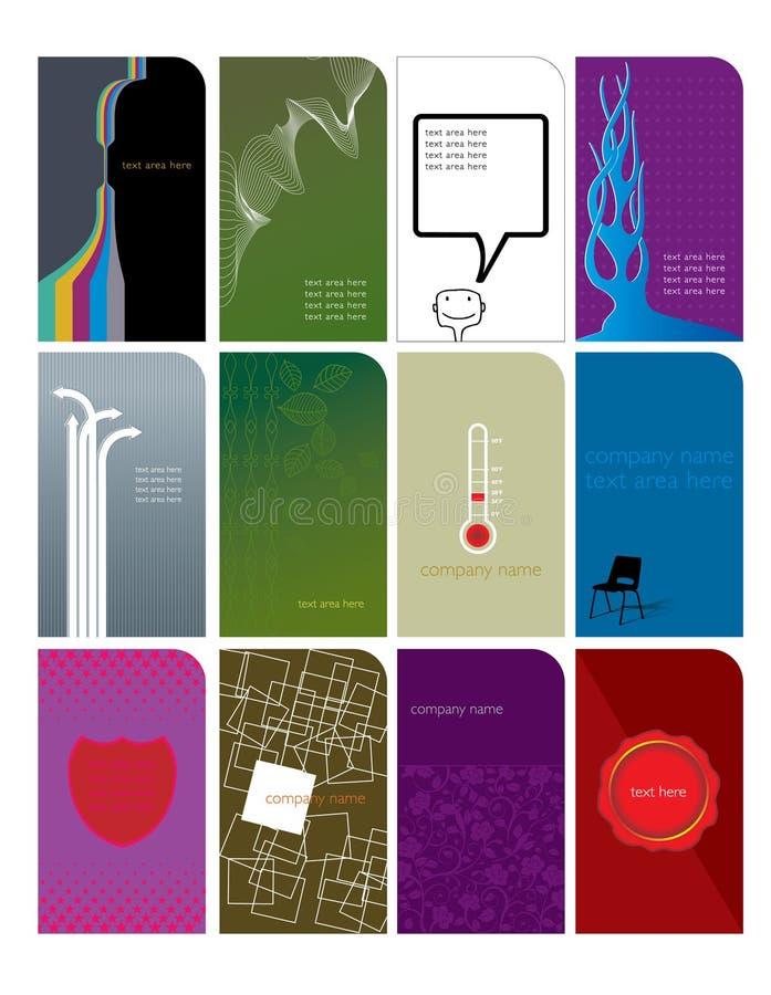 1 όνομα 3 καρτών διανυσματική απεικόνιση