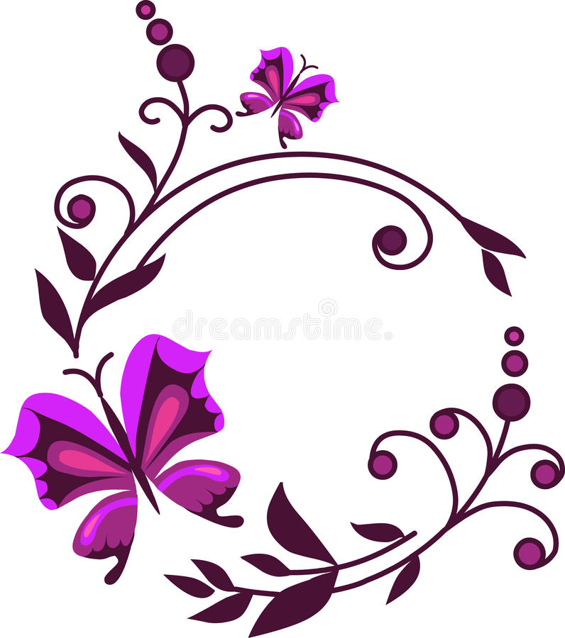 1 абстрактный пинк цветков бабочек бесплатная иллюстрация