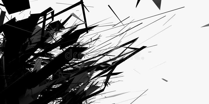 1 абстрактный cgi иллюстрация вектора