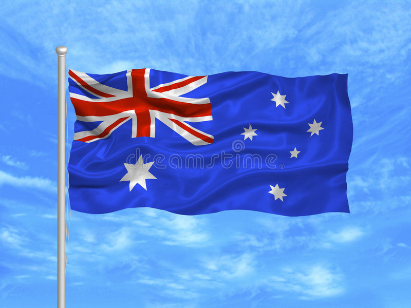 1 австралийский флаг иллюстрация штока