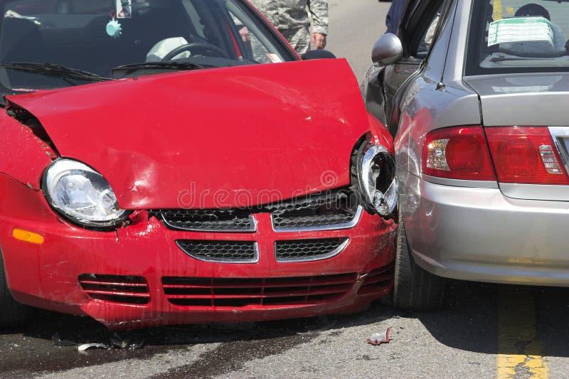 1 автокатастрофа 2 стоковая фотография rf
