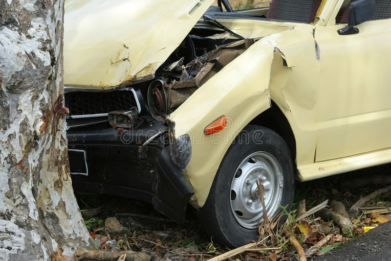 1 автокатастрофа стоковая фотография rf