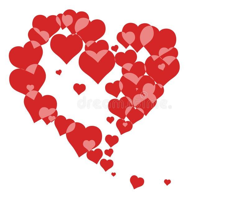 1 влюбленность сердец иллюстрация вектора