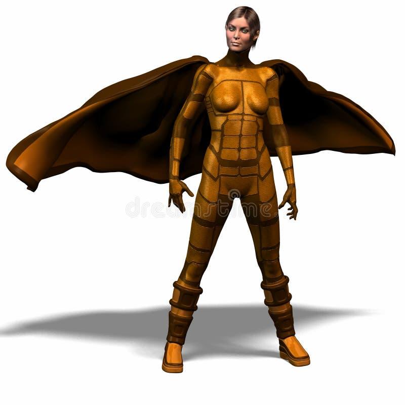 1 героиня супер иллюстрация вектора