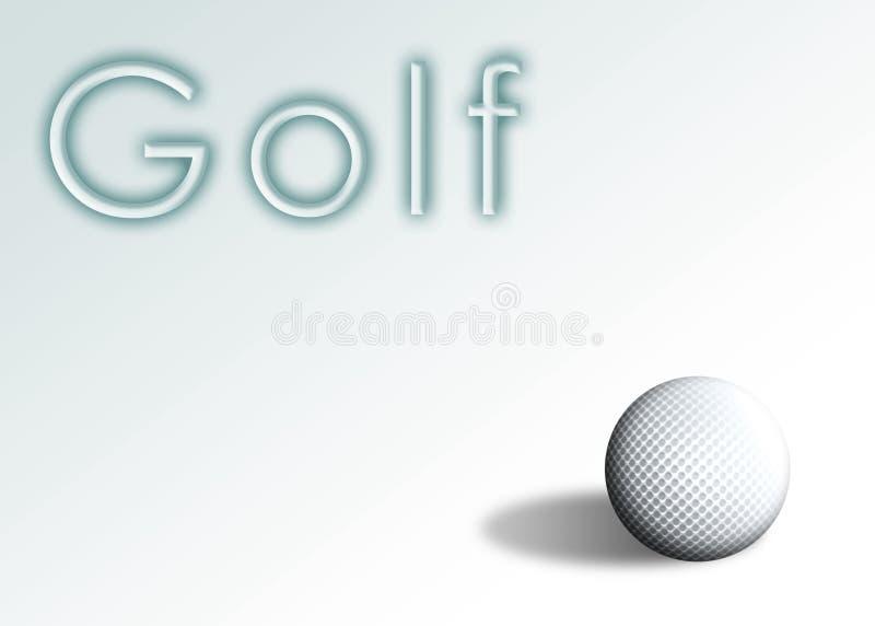 1 гольф иллюстрация вектора