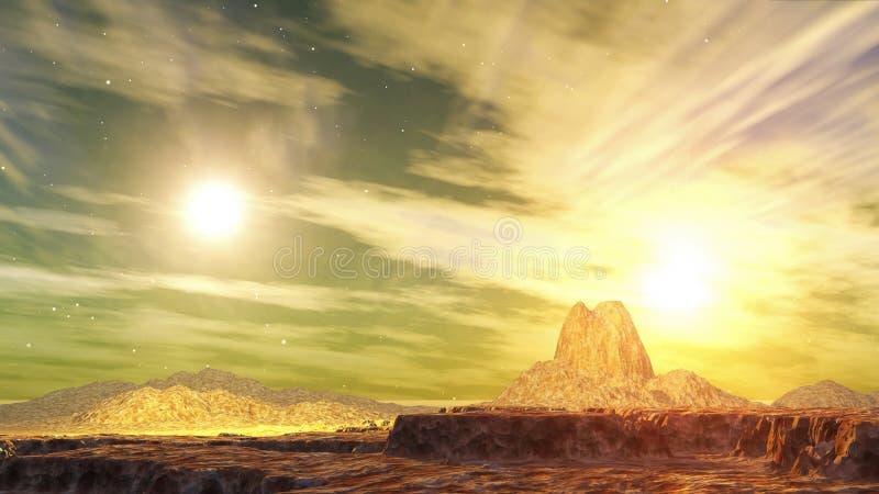 1 двойное солнце kaito иллюстрация вектора