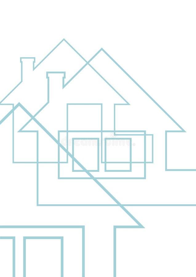 1 дом чертежа страны иллюстрация штока