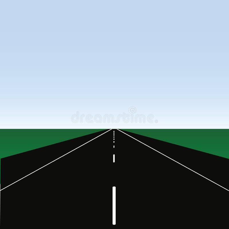 1 дорога иллюстрация вектора