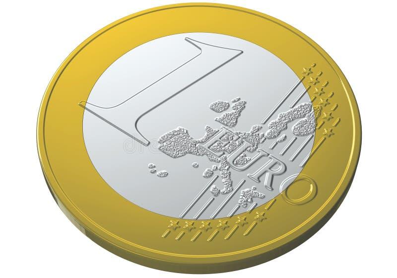 1 евро иллюстрация вектора