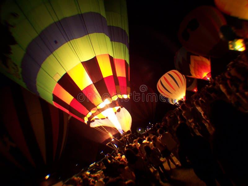 1 зарево воздушного шара стоковая фотография rf